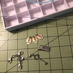 Origami owl with charms collection with box